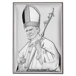 Obrazek srebrny Święty Jan Paweł II papież DS16