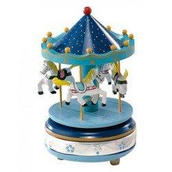 Pozytywka - karuzela z końmi, niebieska 1735C