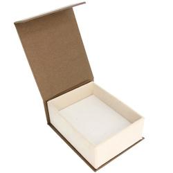 Pudełko na biżuterię eleganckie brąz / ecrue P3/BA-6