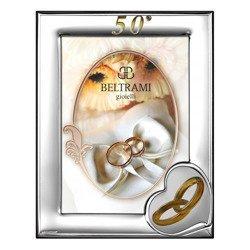 Ramka srebrna pamiątka 50 rocznicy ślubu 1161N/504