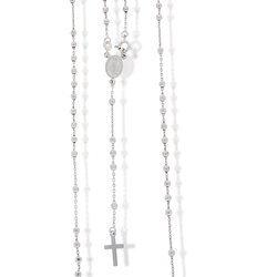 Różaniec srebrny - 5 dziesiątek z zapięciem 6,4-6,8 g, srebro pr. 925 RC011