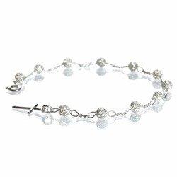 Różaniec srebrny - bransoletka na rękę, dziesiątek, ażurowy, 3,0-3,4 g, srebro pr. 925 BRBM01