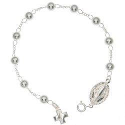 Różaniec srebrny - bransoletka na rękę, dziesiątka, 4,7-5,3 g, srebro pr. 925 BRP29