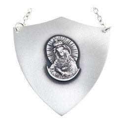 Ryngraf srebrny 925 Matka Boska Ostrobramska R11