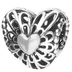 Srebrna przywieszka pr 925 Charms klatka na serce PAN219