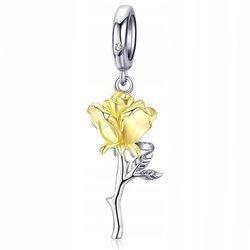Srebrna przywieszka pr 925 Charms wiszący Anielska Róża PAN161
