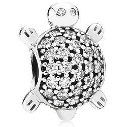 Srebrna przywieszka pr 925 Charms żółw cyrkonie PAN201