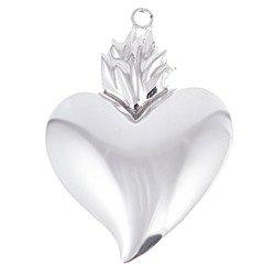 Wotum srebrne Serce gorejące błyszczące srebro 925 WOTOB