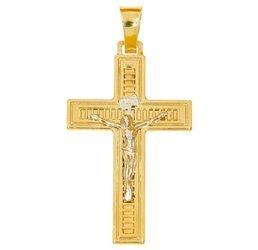 Złoty krzyżyk pr. 585  ZK061