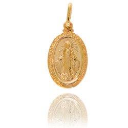 Złoty medalik pr. 585 Cudowny M.B. Niepokalana ZM003