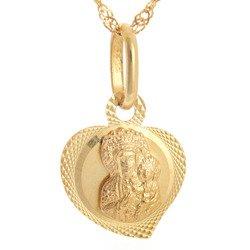Złoty medalik pr. 585 M.B. Częstochowska serce  ZM030
