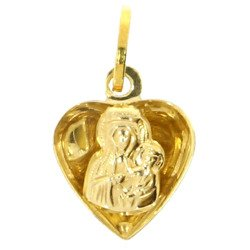Złoty medalik pr. 585 Madonna Częstochowska przestrzenna ZM019