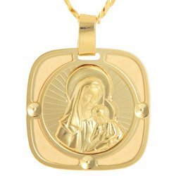 Złoty medalik pr. 585 Madonna z dzieciątkiem  ZM103