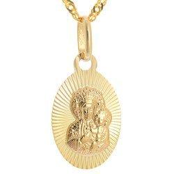 Złoty medalik pr. 585 Matka Boska Częstochowska  ZM092