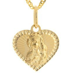 Złoty medalik pr. 585 Matka Boska Częstochowska  ZM099