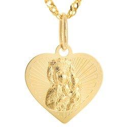 Złoty medalik pr. 585 Matka Boska Częstochowska  ZM100