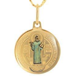 Złoty medalik pr. 585 Swięty Benedykt  ZM068