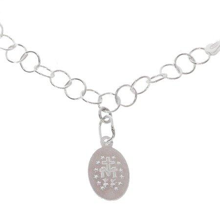 Bransoletka Zawierzenia Maryi - srebrny łańcuszek Niewolnictwa Maryi pr. 925 BNM01