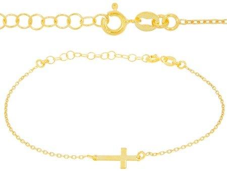 Bransoletka celebrytka - krzyżyk srebro pr 925 CEL31