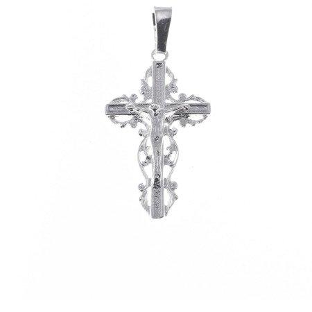 Krzyżyk srebrny z wizerunkiem Jezusa  MO063