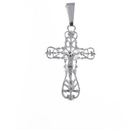Krzyżyk srebrny z wizerunkiem Jezusa  MO064