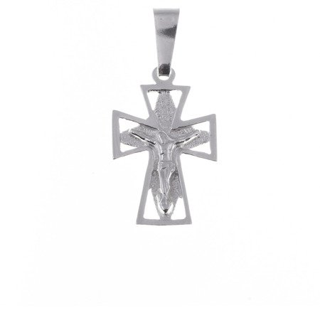 Krzyżyk srebrny z wizerunkiem Jezusa  MO079