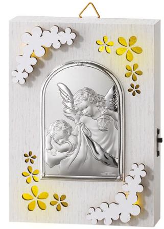 Lampka srebrna - anioł stróż