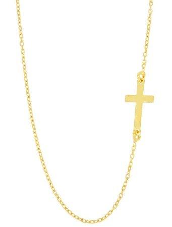 Łańcuszek celebrytka - krzyżyk POZŁACANY srebro pr 925 CEL06