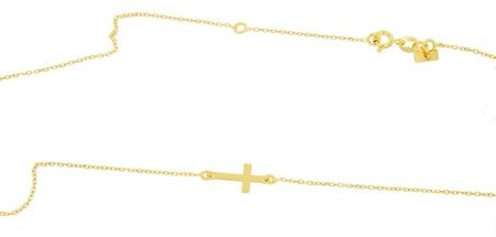 Łańcuszek celebrytka - krzyżyk srebro pr 925 CEL32