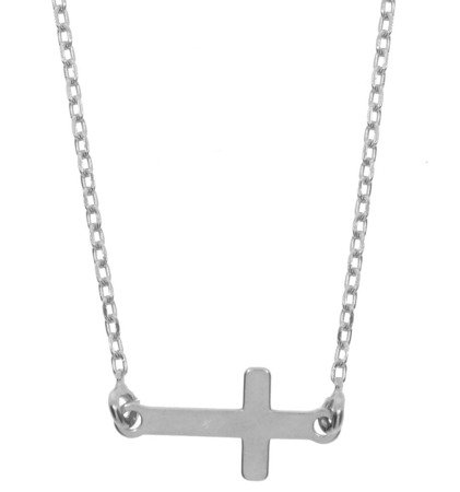 Łańcuszek celebrytka - krzyżyk srebro pr 925 CEL34