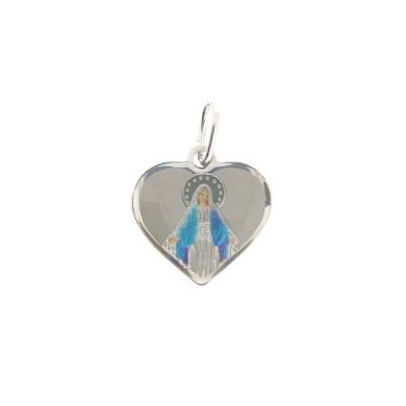 Medalik srebrny (1,6 g) - Matka Boża Niepokalana Cudowny medalik MK001