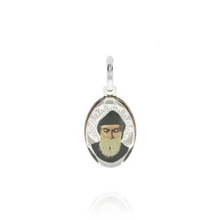 Medalik srebrny (1,6 g) - Święty Charbel ( Szarbel ) MK003