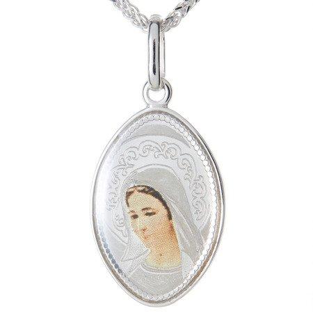 Medalik srebrny (1,7 g) - Matka Boska Medjugorie  MK039