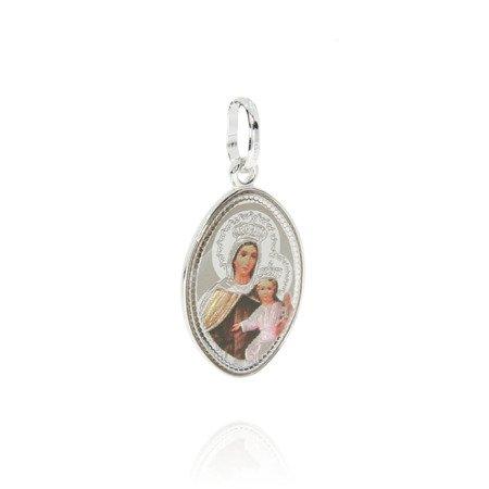 Medalik srebrny (1,9 g) - Szkaplerz Najświętszej Maryi Panny z Góry Karmel ( Szkaplerz ) MK004