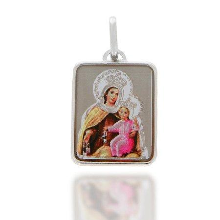 Medalik srebrny (2,0 g) - Matka Boża Szkaplerzna Szkaplerz medalik MK021