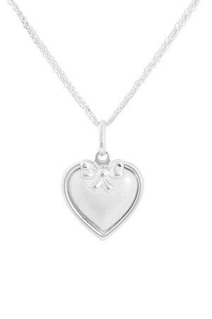 Medalik srebrny (2,1 g) - Serce otwierane Serce Matki Boskiej dwustronny MK045