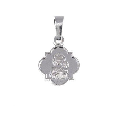 Medalik srebrny - Matka Boża Częstochowska Czarna Madonna M37