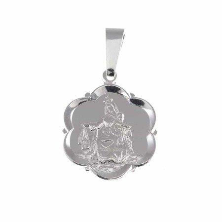 Medalik srebrny - Matka Boża Szkaplerzna Szkaplerz M027