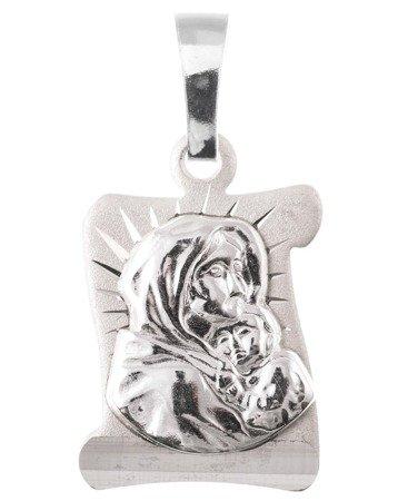Medalik srebrny diamentowy - Matka Boża Cygańska (Wędrowna)MD61