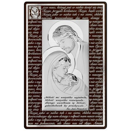 Obraz Srebrny Świętej Rodziny 6380SMN