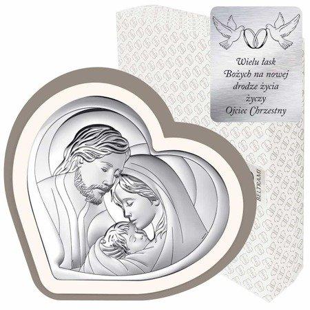 Obrazek Srebrny Święta Rodzina 6432CC