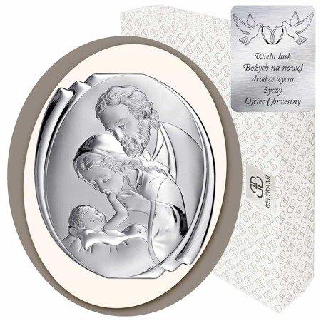 Obrazek Srebrny Święta Rodzina 6499CC