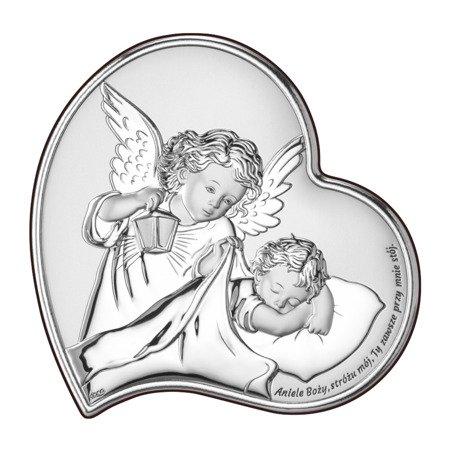 Obrazek srebrny Aniołek Twój Anioł Stróż DS18