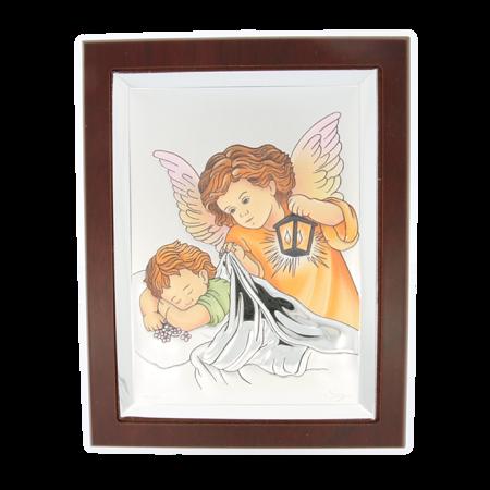 Obrazek srebrny Aniołek z latarenką 31121W CER
