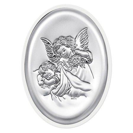 Obrazek srebrny Aniołek z latarenką 6385W
