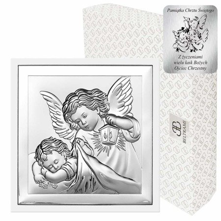 Obrazek srebrny Aniołek z latarenką 6387W