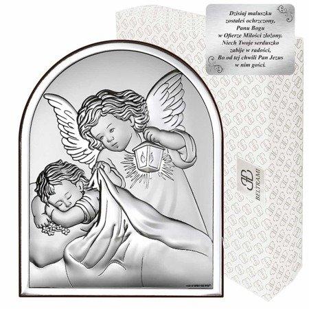 Obrazek srebrny Aniołek z latarenką 6470