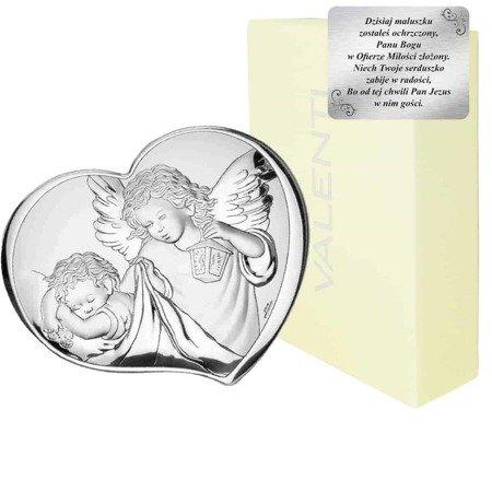 Obrazek srebrny Aniołek z latarenką 81258