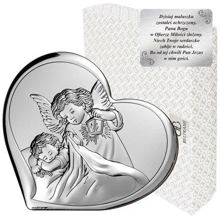 Obrazek srebrny Aniołek z latarenką na komunię 6448