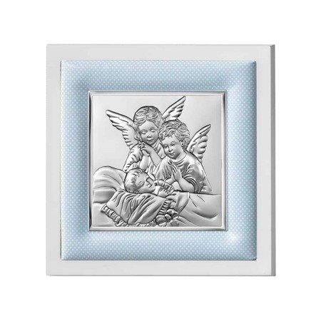 Obrazek srebrny Aniołki nad dzieckiem 750201C